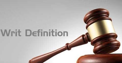 Writ Definition
